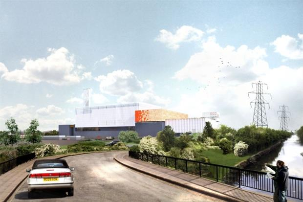 Artists' impression of the North London Heat and Power Project (photograph: North London Waste Authority)