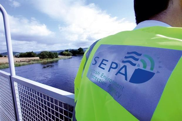 Scotland is grasping the 'economic opportunities' of environmental regulation (photograph: SEPA)