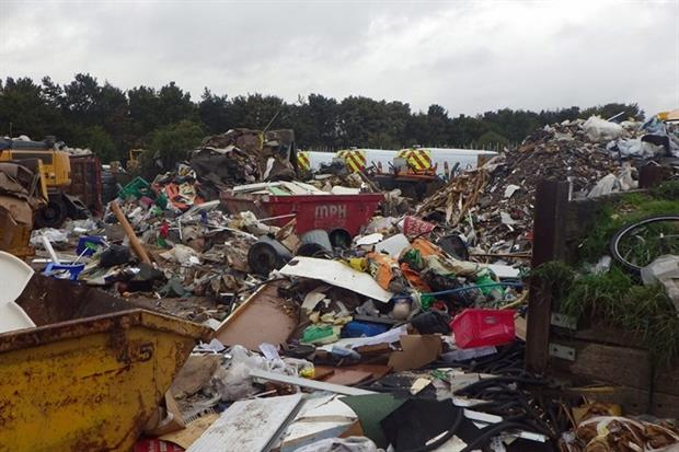 Monk Plant Hire Ltd and its director Mark Monk stored nearly 37 times more waste than allowed (photograph: Environment Agency)