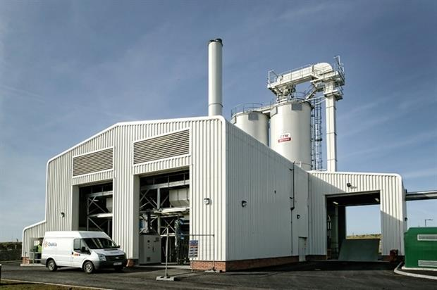 Dairy Crest's Davidstow biomass plant constructed by Veolia (photograph: Veolia)