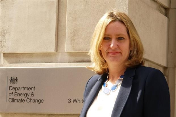 Amber Rudd, energy and climate change secretary