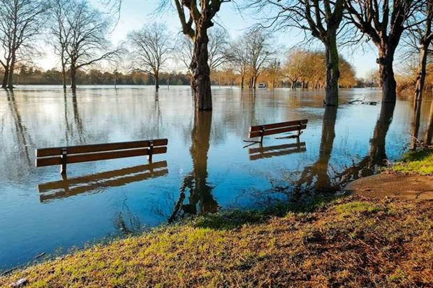 Flooding is one area where England is vulnerable to climate change (photograph: Lucie Lang/123RF)