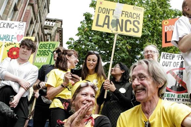 Anti-fracking rally in Lancashire (photograph: Friends of the Earth)