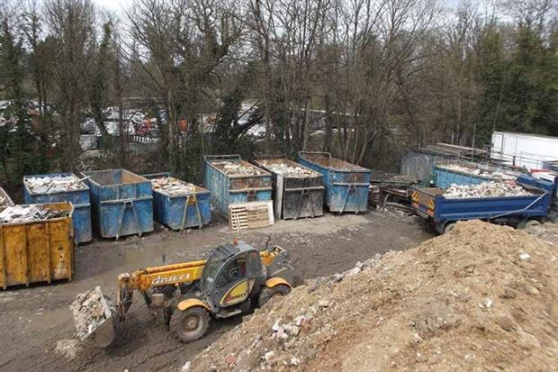Feely Skip & Grab Hire Ltd dumped thousands of tonnes of construction and demolition waste in Surrey (photo: Environment Agency)