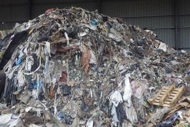 Waste at J & J Stanley's waste transfer station at Swalwell (photograph: Environment Agency)