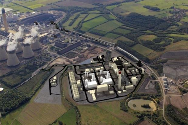 The White Rose CCS power station would be sited next to Drax's existing plant (Image: Capture Power)