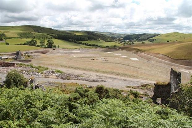 The mine after remediation (photograph: Natural Resources Wales)