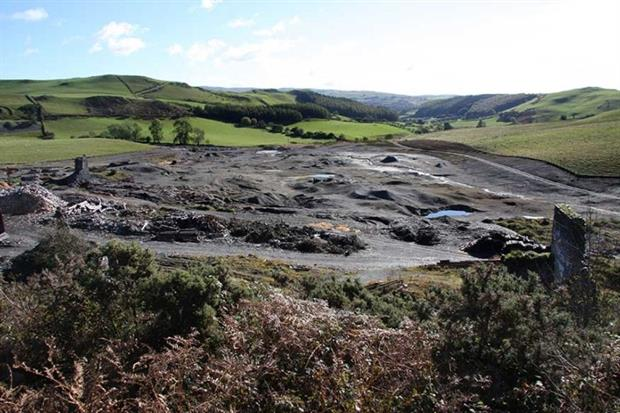 The Frongoch mine in Ceredigion, Wales, before remediation (photograph: Natural Resources Wales)