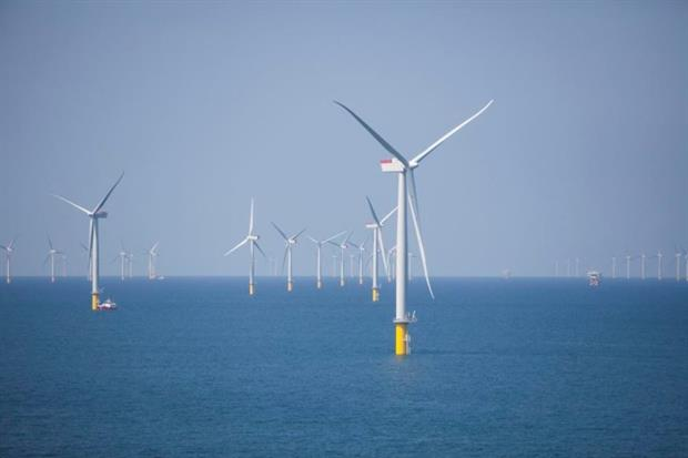 The West of Duddon Sands Wind Farm came online last year (photograph: Iberdrola)