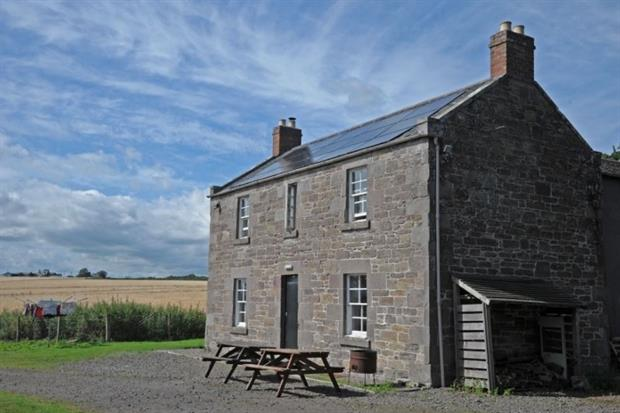 A farmhouse in the grounds of the National Trust for Scotland's House of Dun features solar PV (photograph: Forster Energy CC BY-SA 2.0 )