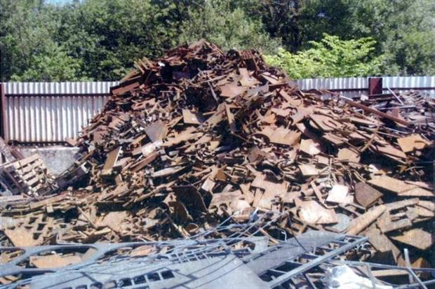 Skip hire firm Frank Barnes has been ordered to store all waste inside a building (photograph: Environment Agency)