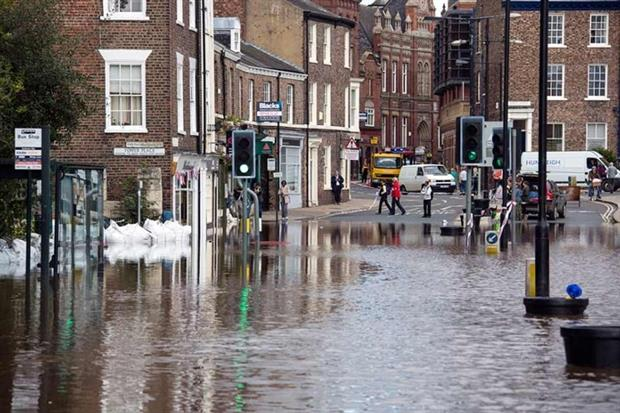 Global average temperature changes will increase flood risk (photograph: Steve Allen/123RF)