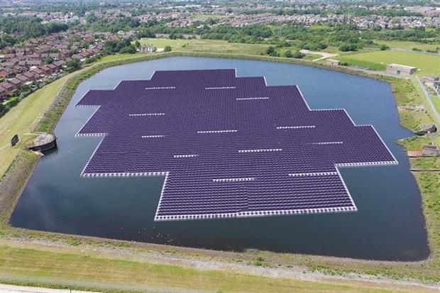 The array will be the second largest in the world (photograph: United Utilities)