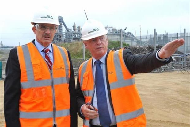 Francis Maude (right) and Air Products' vice president David Taylor opened construction of the TV2 project in April 2014. Photpgraph: Air Products