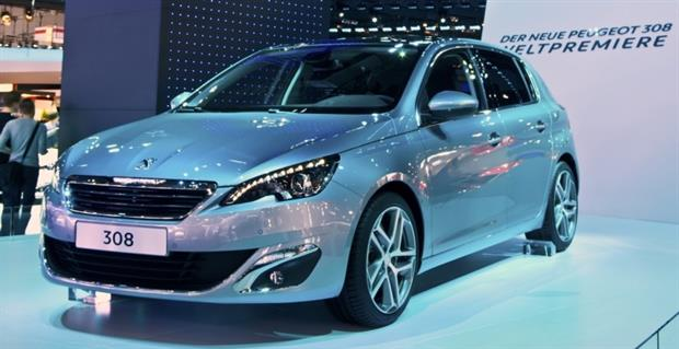 The Peugeot 308, which holds the Guiness World Record for being the most fuel-efficient mainstream car currently in production, is under investigation for cheating pollution tests. Photograph: OSX