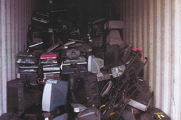 Eleven shipping containers full of WEEE were found destined for Nigeria, Ghana and Tanzania. Photo: Environment Agency