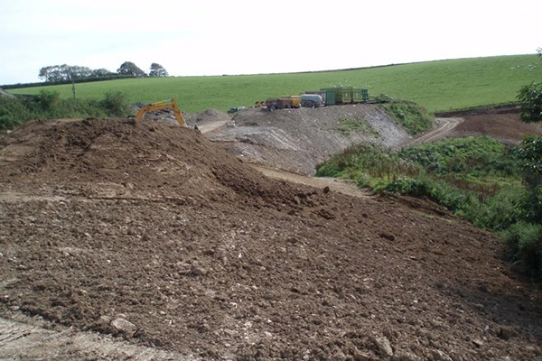 Dunchaul deposited 66 times more waste than permitted onto two farms. Photograph: Environment Agency