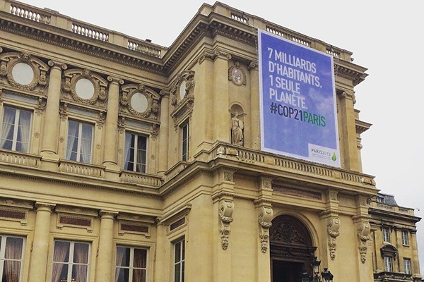 A Global Alliance for Buildings and Construction was launched to support Paris carbon pledges. Photograph: cop21fr