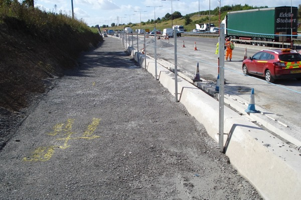 Ballast Phoenix's IBA aggregate was used for bedding and permeable backing as part of the M25 road widening project. Photograph: Neil Nolan/Ballast Phoenix