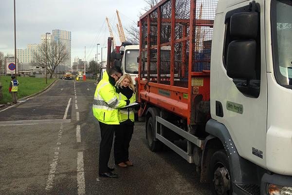 The stop checks act as a deterrent for the illegal transport of waste. Photograph: Conor McGlone