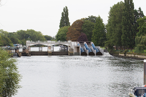 A view of how Teddington and Ham Hydro's planned community-owned hydropower plant on the river Thames would look