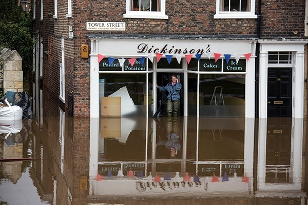 Flooded business