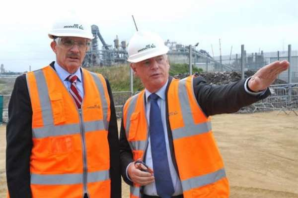 Francis Maude (right) at the April 2014 launch of Air Products' second Teeside project, was the driving force behind Energy for Growth. Photograph: Air Products