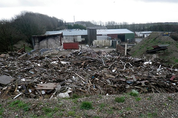 The waste presented a considerable fire and pollution risk. Photograph: Environment Agency