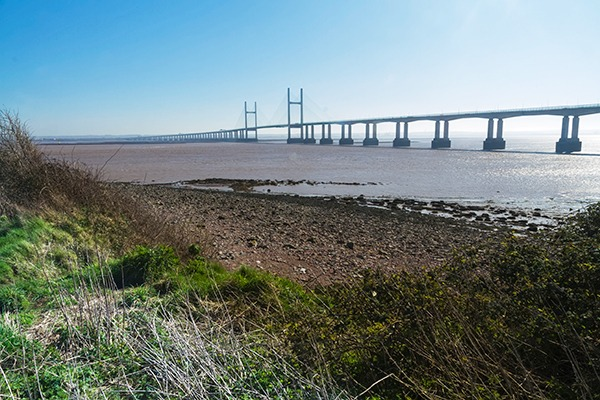 The Second Severn crossing carries the M4 motorway over the Bristol Channel between England and Wales. Photograph: Andrew Chisholm/123RF