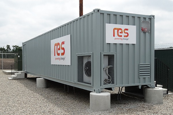 The RES battery storage system is the first to provide fast frequency response in the UK. Courtesy of RES