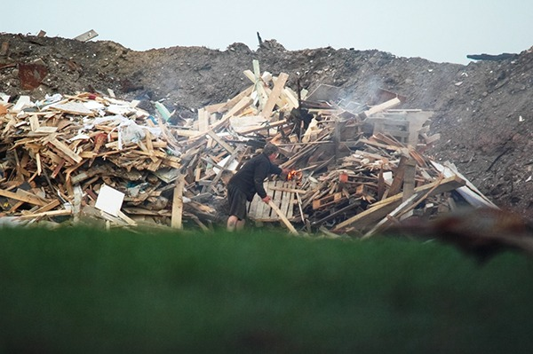 Drivers were either setting fire to the waste themselves or allowing others to do so. Photograph: Environment Agency