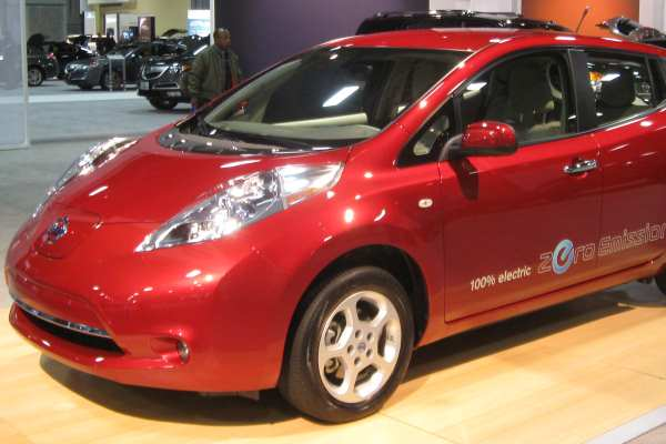The Environment Agency leases only three electric cars, all Nissan Leafs. Photograph: IFCAR