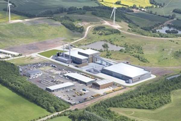 An artist's impression of the Bilsthorpe Energy Centre. Image: Peel Environmental