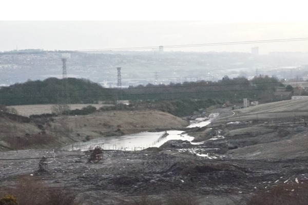 A flooded lagoon in at the site in January (January)Photograph: Environment Agency