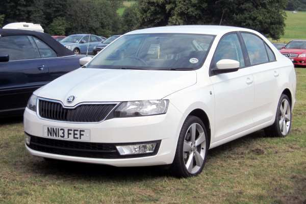 This Skoda Rapid, made in 2013, features an emissions test-cheating engine. Photograph: Charles01 CC BY-SA 3.0