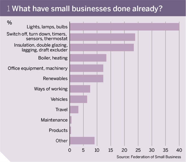Figure 1: What have small businesses done already?