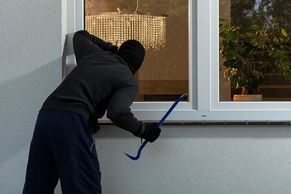 The largest proportion of the crime carbon footprint came from burglary. Photograph: Katarzyna Białasiewicz/123RF