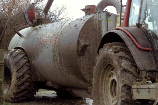 """A tanker was observed """"pouring out"""" slurry which was entering a watercourse. Photograph: Environment Agency"""