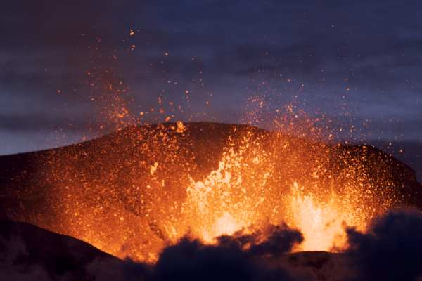 The eruption of Eyjafjallajökull in 2010 led to the closure of European airspace and harmed air quality. Photograph: Boaworm CC BY 3.0