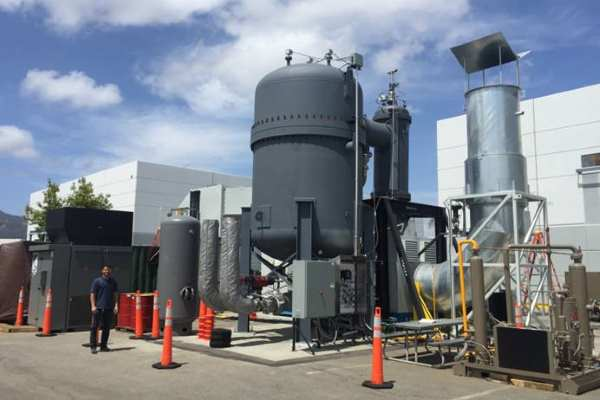 This 2MW Ener-Core system is currently under test at a Californian ethanol plant