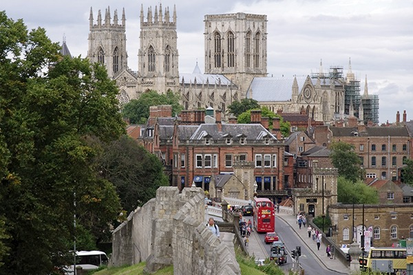 Many of the roads within York's ancient walls are suited more for horses and carts than modern vehicles (photograph: Matt Buck)