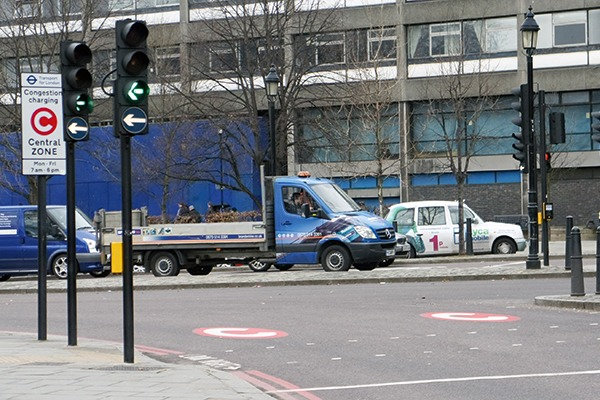 Central London's congestion charging zone has been in operation since 2008 (photograph: Mario Roberto Durán)