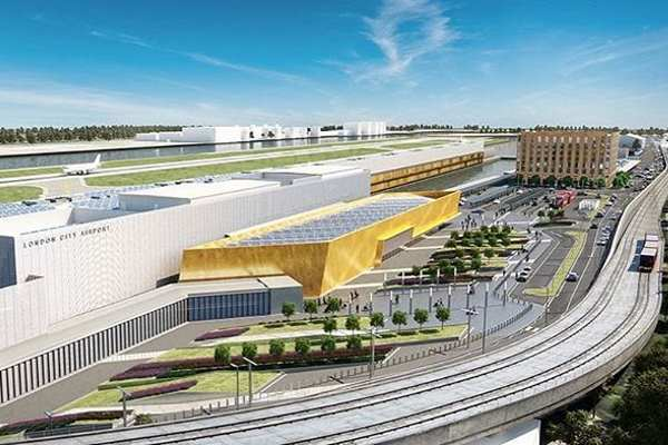 An artist's impression of the rebuilt airport. Image: London City Airport
