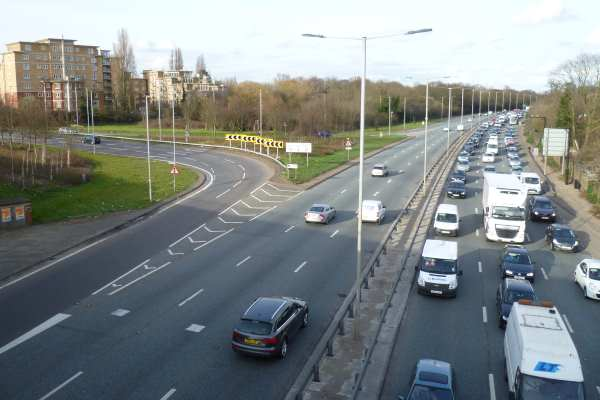 The North Circular Road would form part of the boundary of the ultra-low emission zone under mayor Sadiq Khan's plans. Photograph: Philafrenzy CC BY-SA 4.0