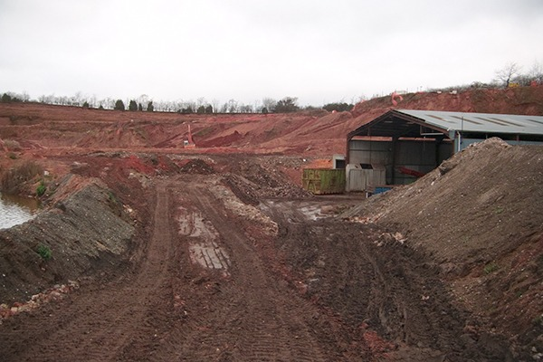 The site was operated beyond the terms of its permit with household, commercial, industrial and municipal waste found buried in the quarry. Photograph: Environment Agency