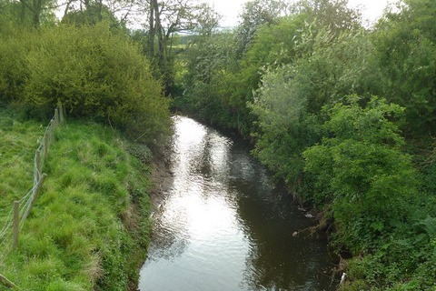 Samples of the river Crimple showed high levels of ammonia and low levels of dissolved oxygen. Photograph: Alexander P Kapp/geograph.org.uk
