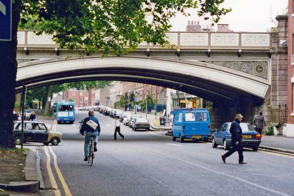 Derby's Friargate bridge is likely to be within its clean air zone. Photograph: Ben Brooksbank CC-BY-SA-2.0