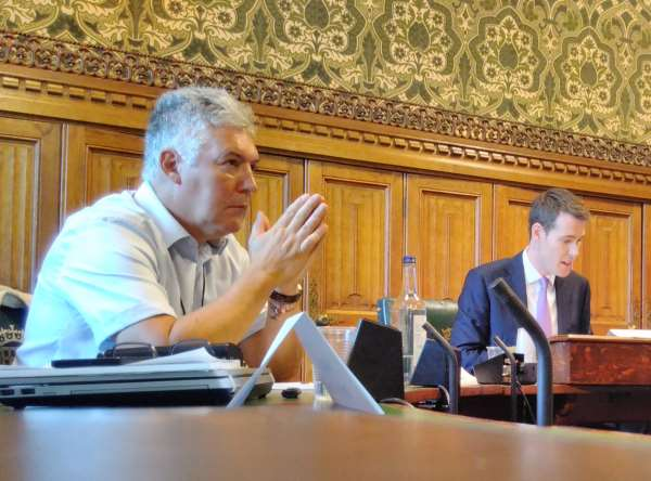 Prof Frank Kelly and Matthew Pennycook MP led the discussion. Photograph: Gareth Simkins