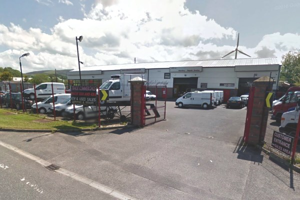 The Milltown Motor Services site is about 100m away from the River Strule. Photograph: Google
