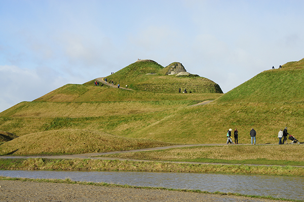 Northumberlandia, known as the Lady of the North, is an award-winning £3m project created using clay and soil from the Shotton surface mine. Photograph: Chris/Flickr